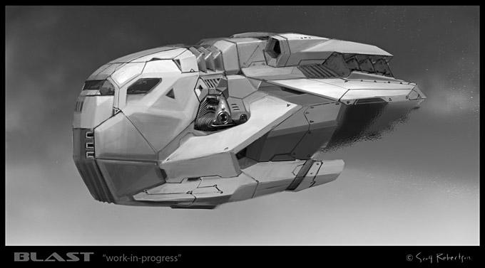 BLAST Spaceship Sketches and Renderings 08a