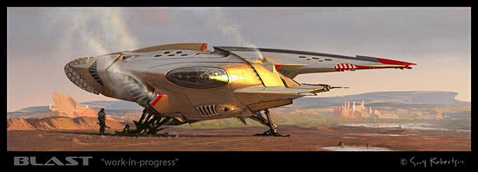 BLAST Spaceship Sketches and Renderings 10a