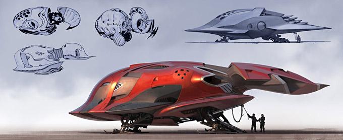BLAST Spaceship Sketches and Renderings 11a