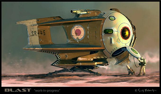 BLAST Spaceship Sketches and Renderings 13a