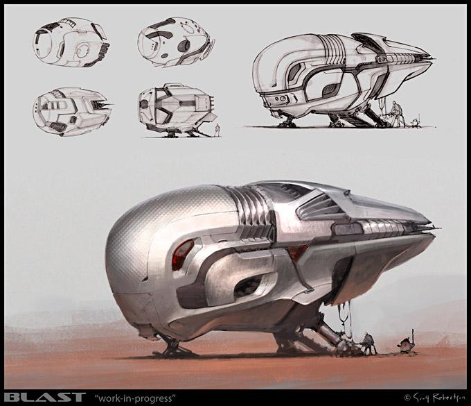 BLAST Spaceship Sketches and Renderings 14a