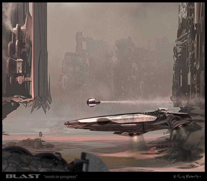 BLAST Spaceship Sketches and Renderings 15a