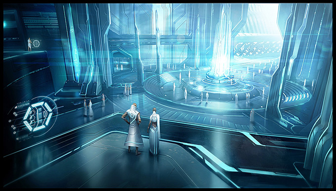 Tron Evolution Concept Art by Daryl Mandryk 02a