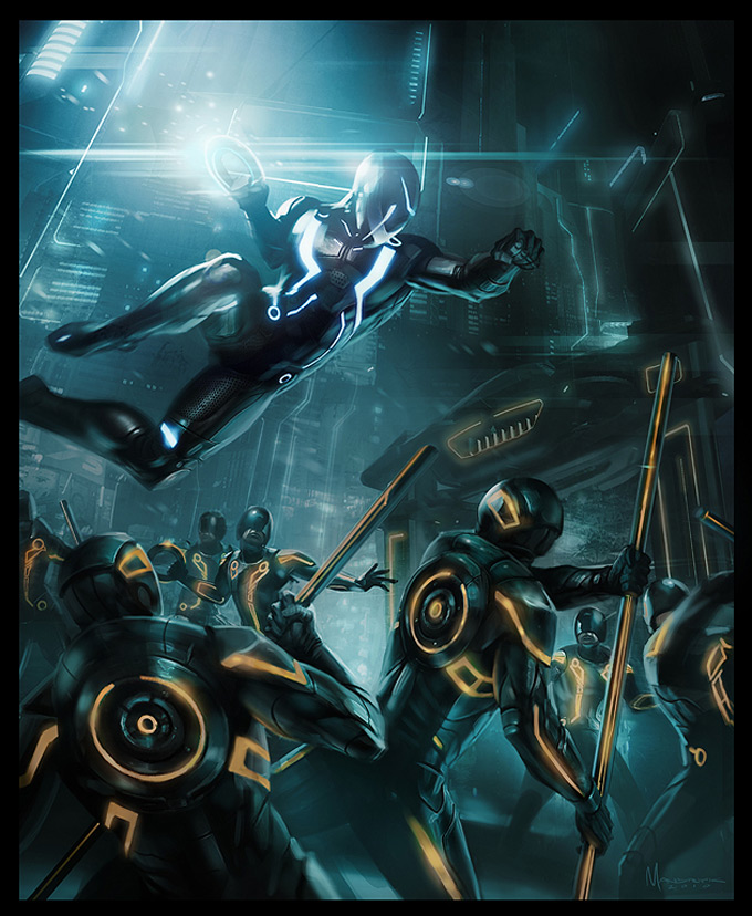 Tron Evolution Concept Art by Daryl Mandryk 03a