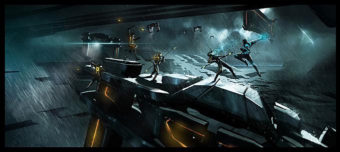 Tron Evolution Concept Art by Daryl Mandryk 07a
