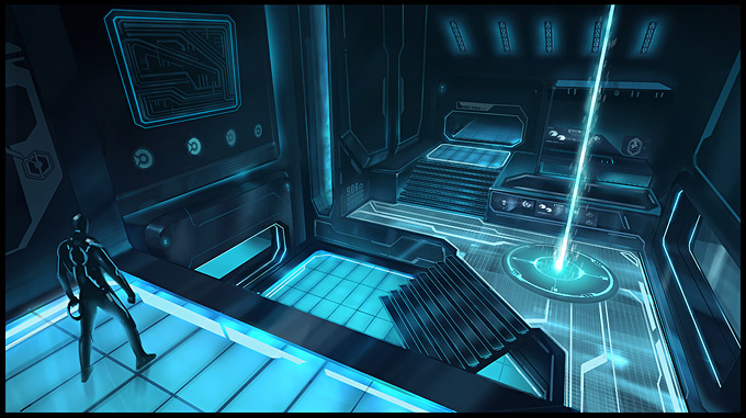Tron Evolution Concept Art by Daryl Mandryk 15a