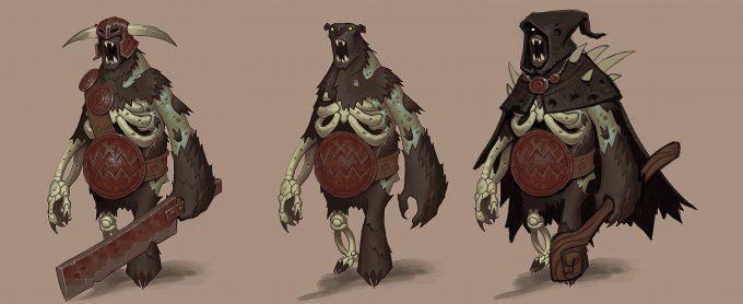 Mike Franchina Concept Art Undead Sturmbeorn Lineup