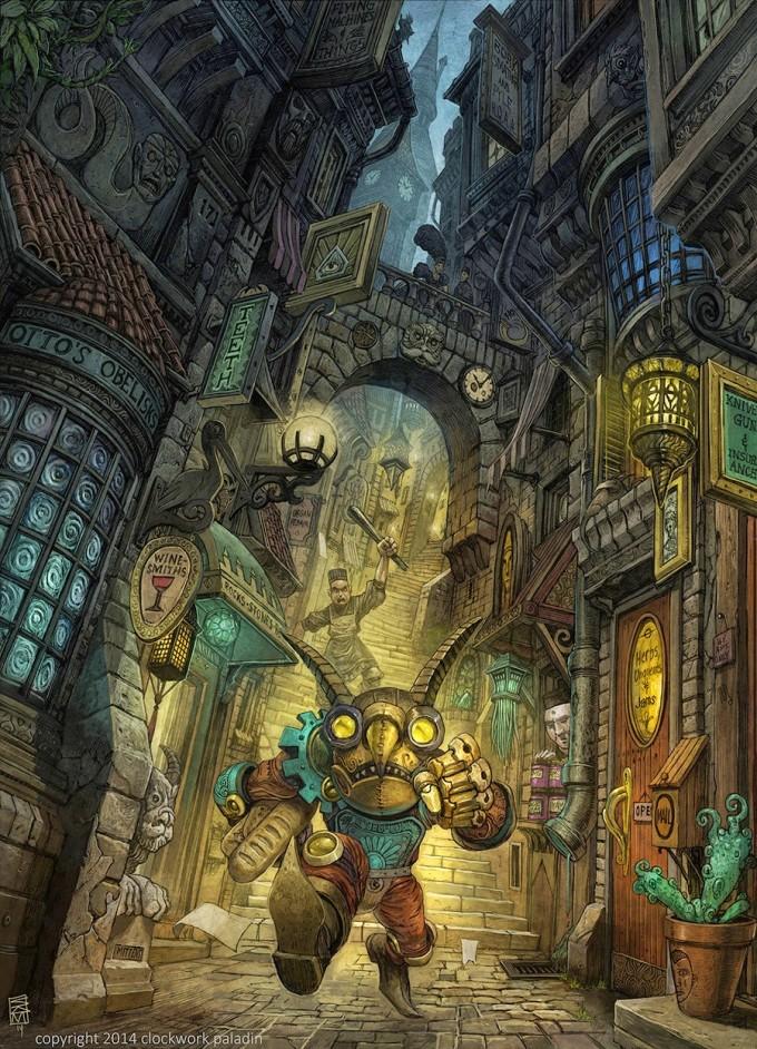 Sean_Andrew_Murray_Art_illustration_ClockworkPaladin_Gremlin_sm