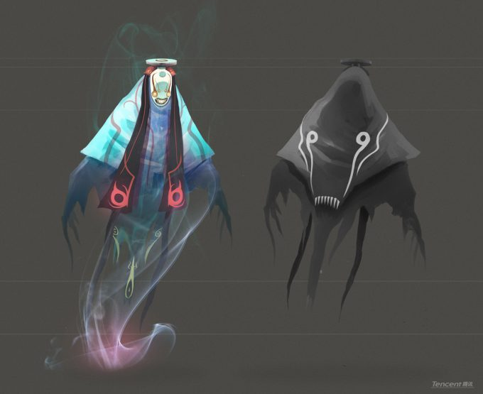 Den Yang Ho concept art ghost monster