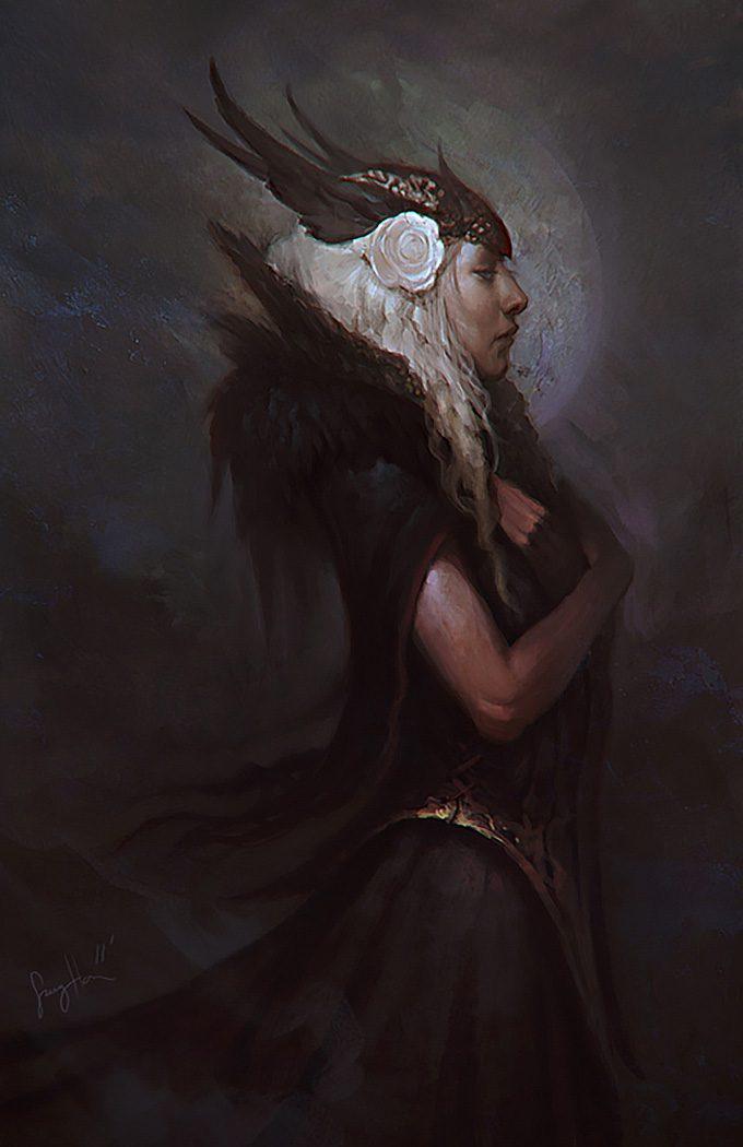 Sang Han concept art illustration Dark Valkyrie