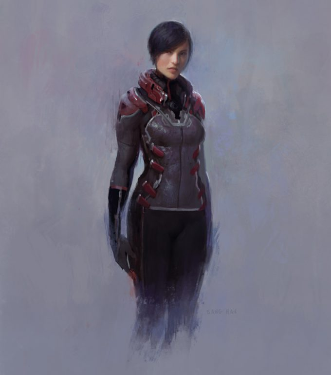Sang Han concept art scifi female