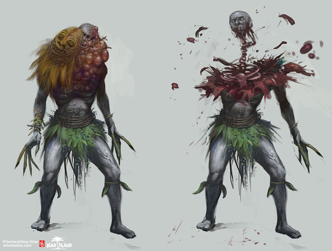 Dead Island Concept Art by Artur Sadlos