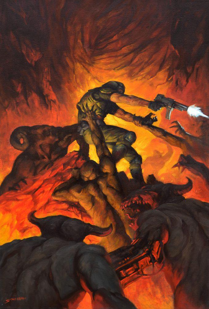 Sidharth Chaturvedi concept art illustration Doom