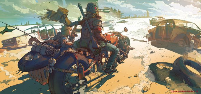 Ignacio Bazan Lazcano Concept Art biker 3