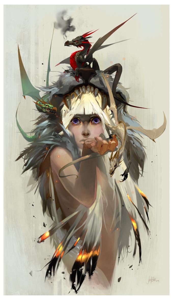 Khaleesi_Blood_of_the_Dragon_by_Jen_Zee