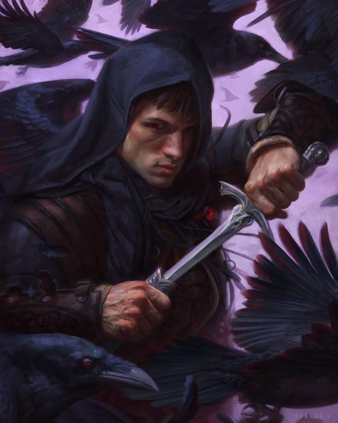 Kieran Yanner art illustration Raven