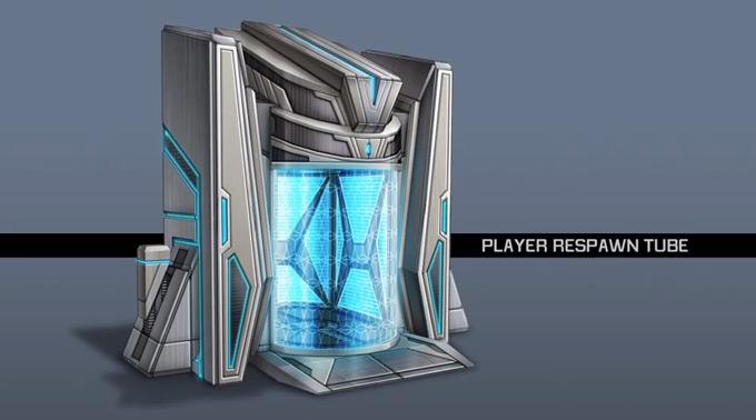 Planetside 2 Respawn Tube Concept Art by Patrick Ho 01a