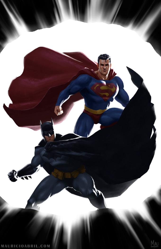 Mauricio_Abril_Illustration_Art_Batman-Superman