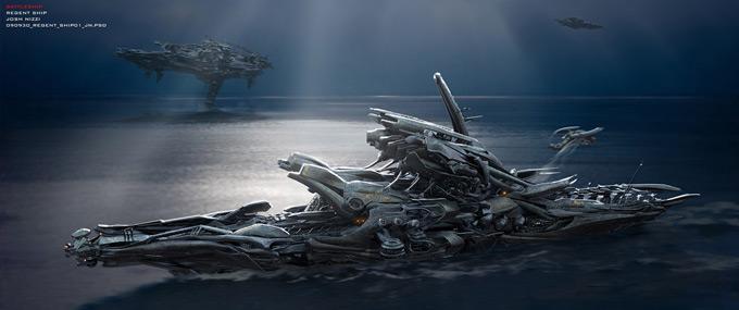 Battleship Concept Art by Josh Nizzi