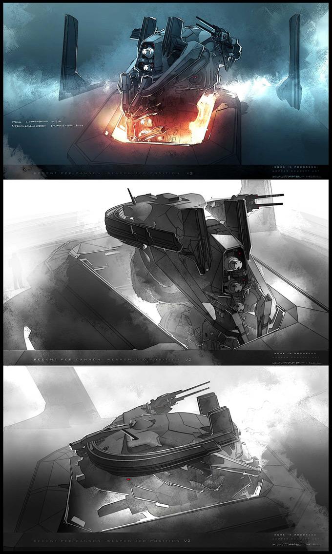 Battleship Concept Art by George Hull