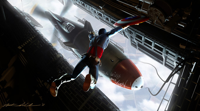 Captain America: The First Avenger Illustrations by Nathan Schroeder