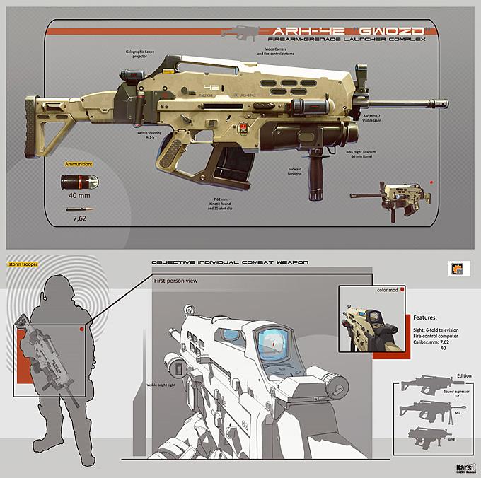 Weapon Concept Art Alexey Pyatov