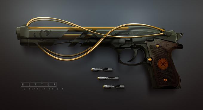 Weapon Concept Art Bastien Grivet