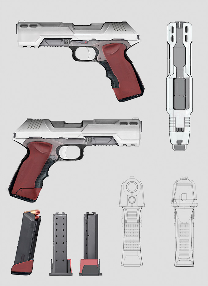 Weapon Concept Art Brian Yam