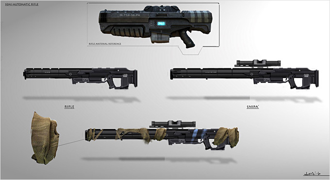 Weapon Concept Art Goran Josic