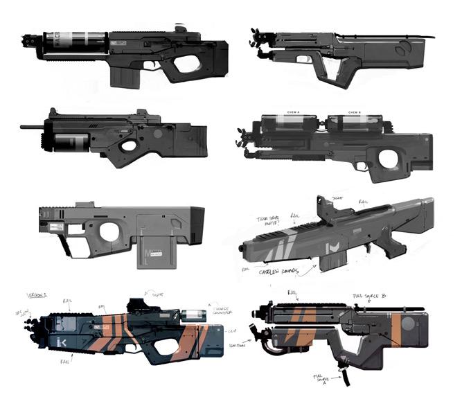 Weapon Concept Art James Ellis