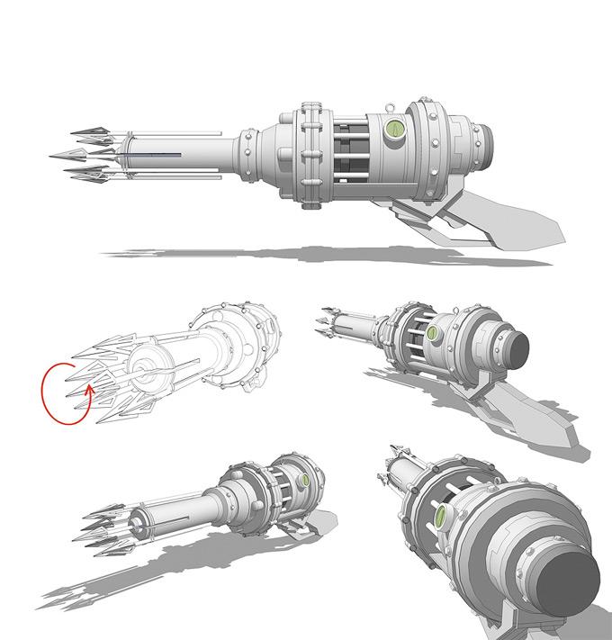 Weapon Concept Art Sam Brown
