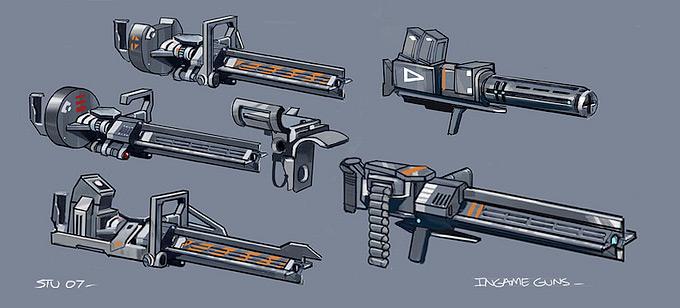 Weapon Concept Art Stuart Jennett