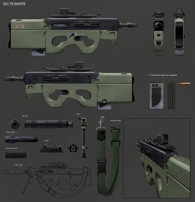 Weapon Concept Art Ville Ericsson