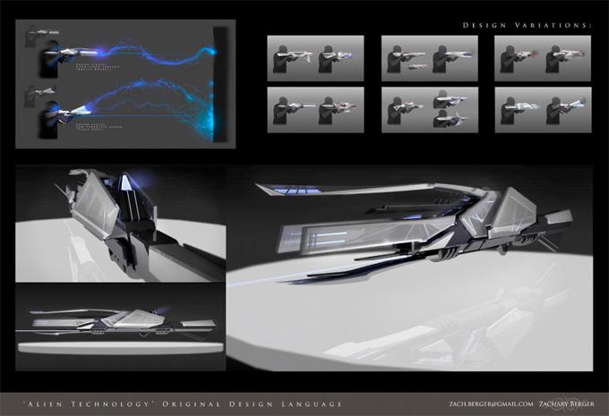 Weapon Concept Art Zachary Berger
