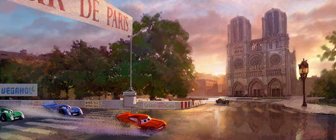 Cars 2 Concept Art by Armand Baltazar