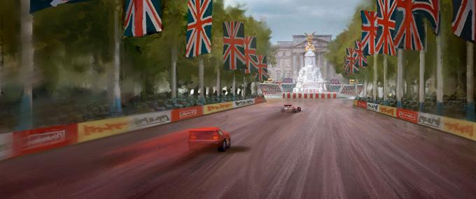 Cars 2 Concept Art by Armand Baltazar