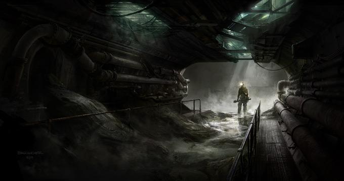 François Baranger Concept Art BLACK DEATH Sewers