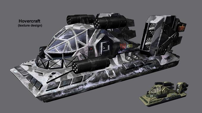 Graven Tung Concept Art Hovercraft