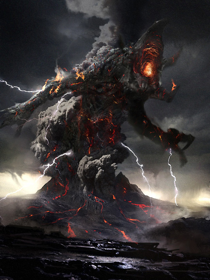 Wrath of the Titans Concept Art by Daren Horley