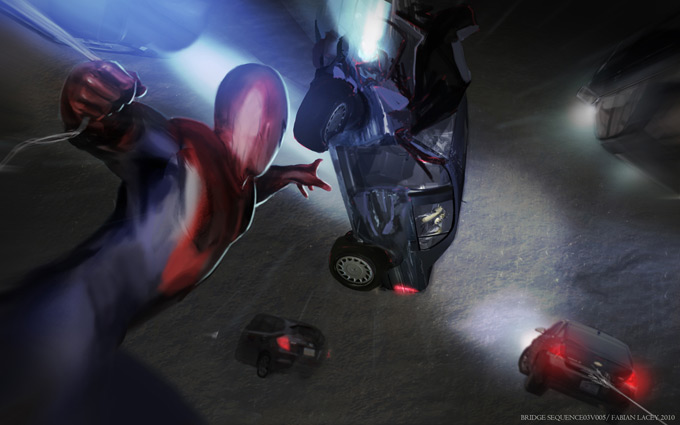The Amazing Spider-Man Concept Art by Fabian Lacey