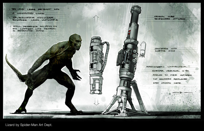 The Amazing Spider-Man Concept Art by George Hull