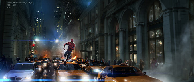 The Amazing Spider-Man Concept Art by Josh Nizzi