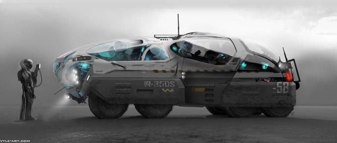 Prometheus Concept Art by David Levy