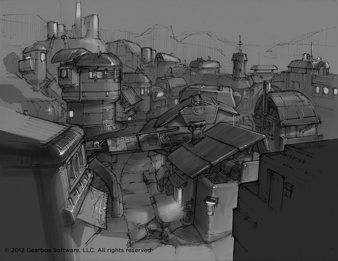 Borderlands 2 Concept Art by Lorin Wood