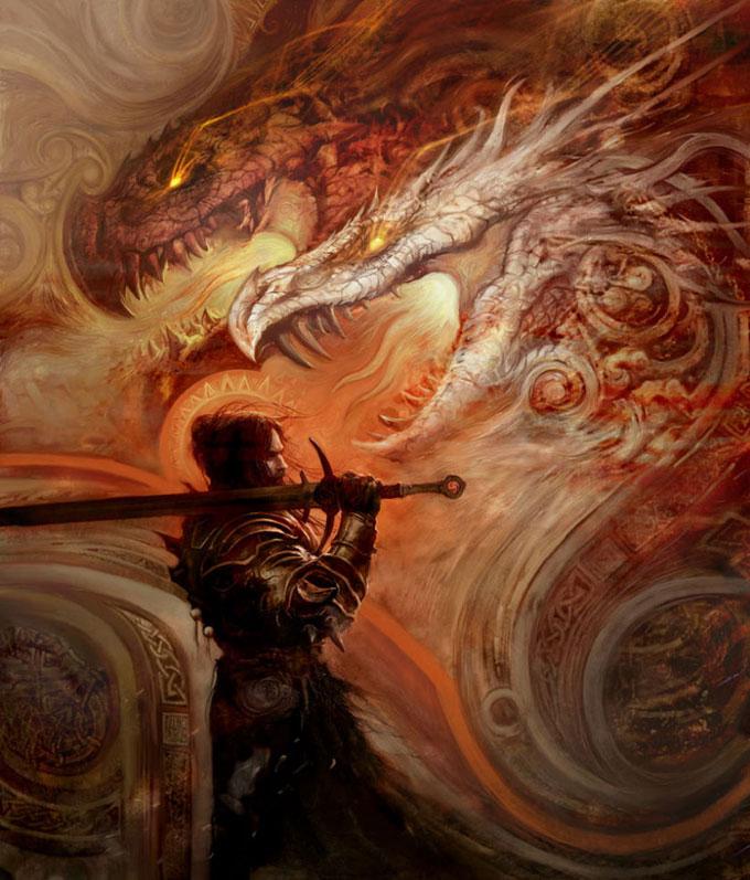 Dragon Concept Art by Aleksi Briclot