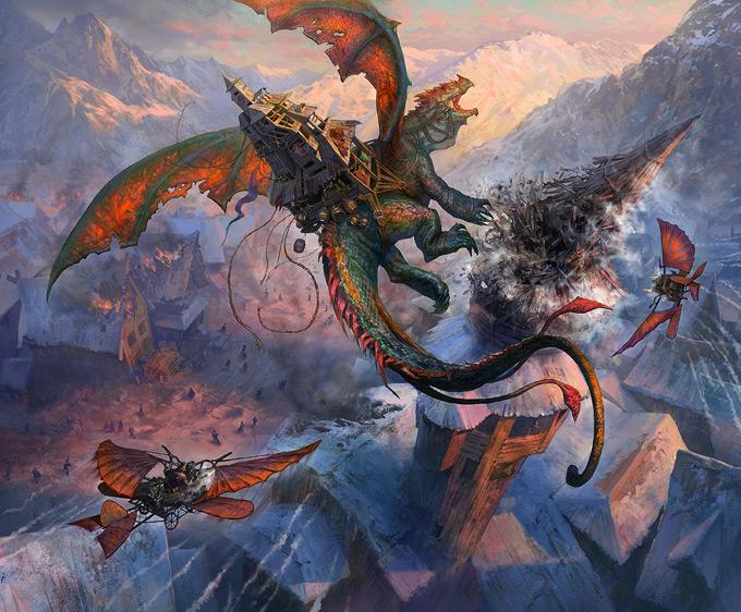 Dragon Concept Art by Andrei Pervukhin