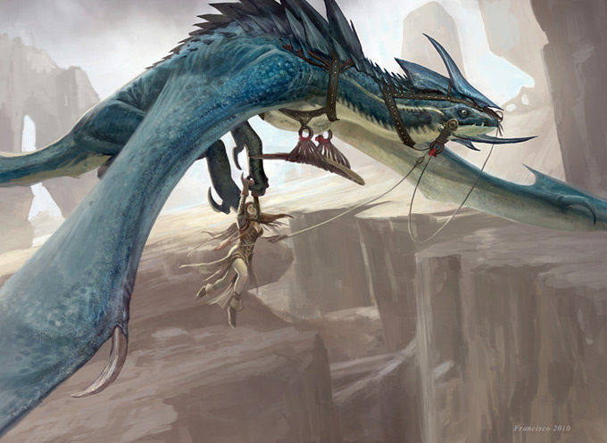 Dragon Concept Art by Anthony Francisco