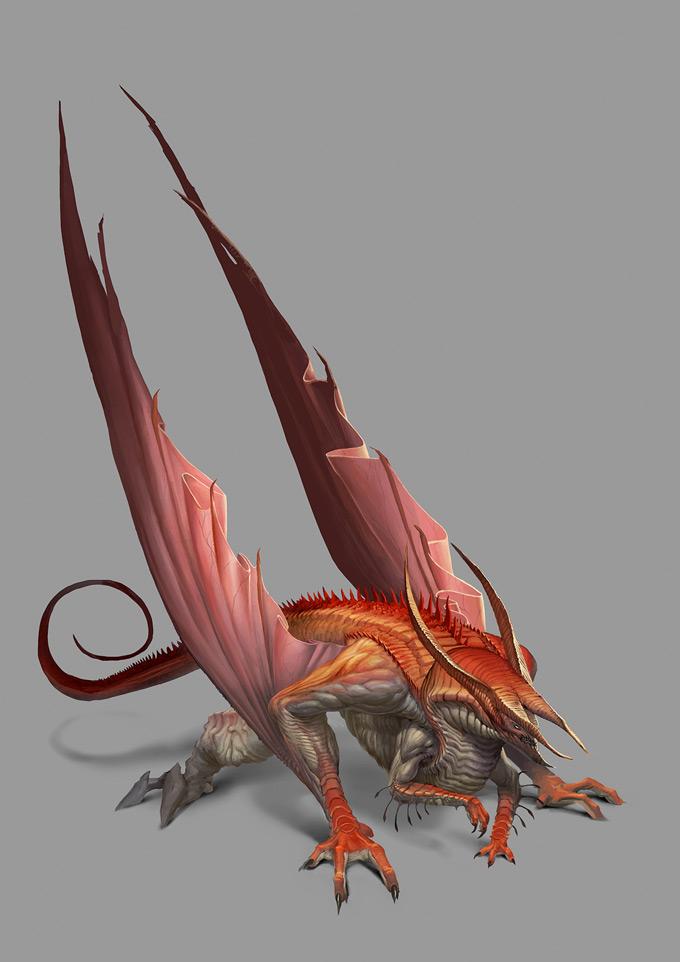 Dragon Concept Art by Björn Hurri