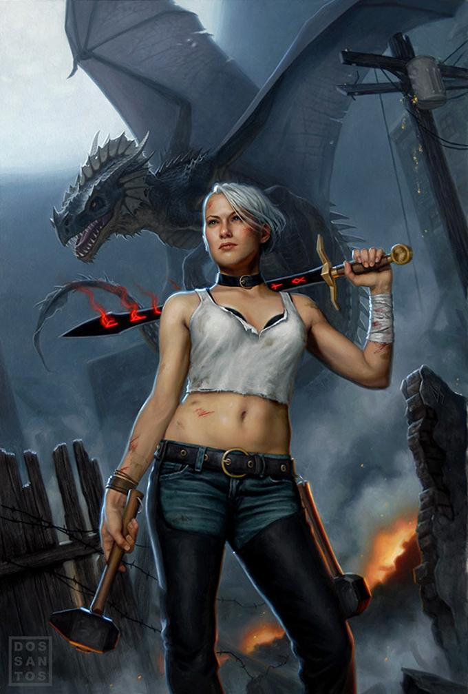 Dragon Concept Art by Daniel Dos Santos