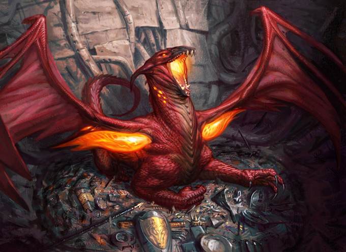 Dragon Concept Art by Eric Deschamps